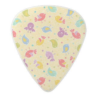 Baby pattern with cute birds acetal guitar pick