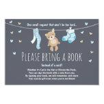 Baby Shower Bring a Book Card Teddy Bear 9 Cm X 13 Cm Invitation Card