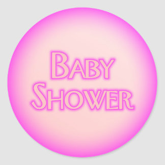 Baby Shower Bubble Round Sticker
