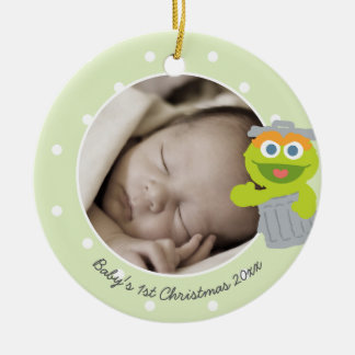 Baby's First Christmas - Oscar Round Ceramic Decoration