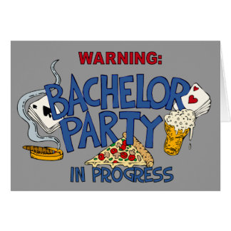 Bachelor Party invitation Note Card