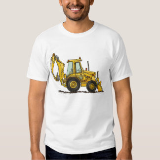Backhoe Digger Loader Construction Apparel Tee Shirt