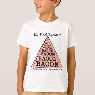 Bacon Food Pyramid Tee Shirts