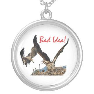 Bad Idea! Round Pendant Necklace