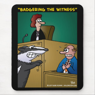 """Badgering The Witness"" Mouse Pad"