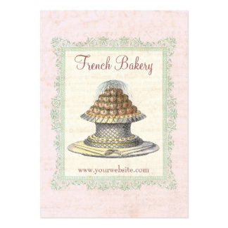 Bakery, Candy Shop, Pink and Pretty Vintage Pack Of Chubby Business Cards