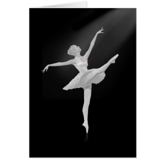 Ballerina in Silver and Black Customizable Greeting Card