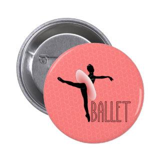Ballet Attitude 6 Cm Round Badge