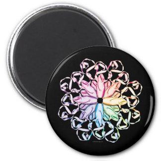 Ballet Pattern (spectral) 6 Cm Round Magnet