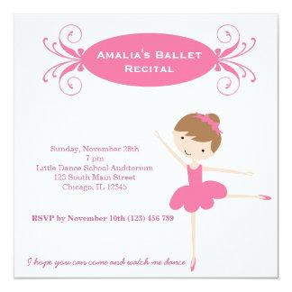 Ballet Recital 13 Cm X 13 Cm Square Invitation Card