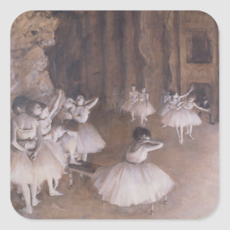 Ballet Rehearsal on the Stage, 1874 Square Sticker
