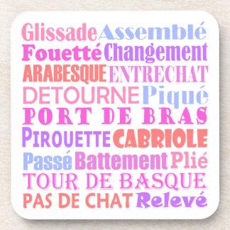 Ballet Words Drink Coasters