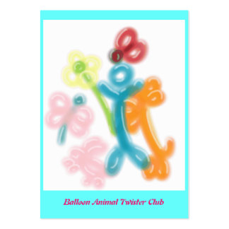 Balloon Animal Twister Profile Card Pack Of Chubby Business Cards