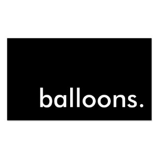 balloons. pack of standard business cards