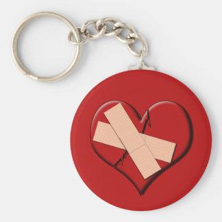 Band Aid Heat Basic Round Button Key Ring