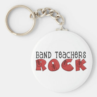 Band Teachers Rock Tshirts and Gifts Basic Round Button Key Ring