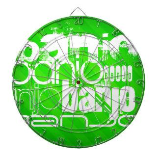 Banjo; Neon Green Stripes Dartboards