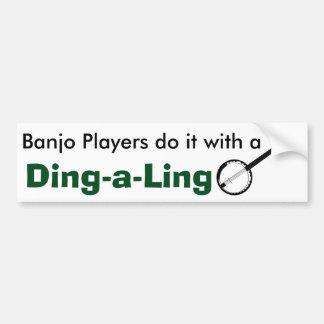 Banjo Players Bumpersticker Bumper Sticker