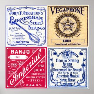 Banjo Strings Poster