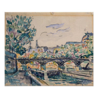 Bank of the Seine near the Pont des Arts Poster