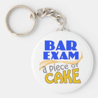 Bar Exam - Piece of Cake Basic Round Button Key Ring