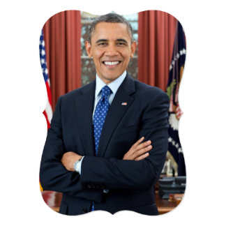 Barack Obama 13 Cm X 18 Cm Invitation Card
