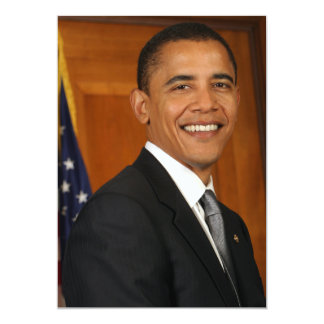 Barack Obama Official Portrait 13 Cm X 18 Cm Invitation Card
