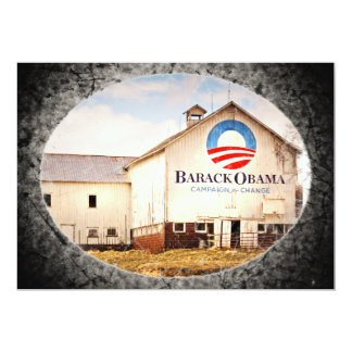 Barack Obama Presidential Campaign Barn 13 Cm X 18 Cm Invitation Card
