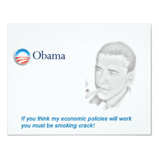 Barack Obama Protest 11 Cm X 14 Cm Invitation Card