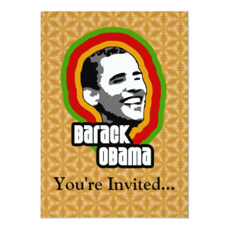 Barack Obama Throwback 13 Cm X 18 Cm Invitation Card