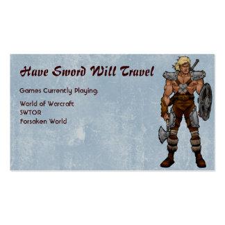 Barbarian Warrior RPG Gamer Pack Of Standard Business Cards