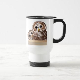 Barn Owls Stainless Steel Travel Mug