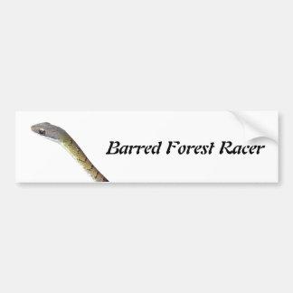 Barred Forest Racer Bumper Sticker