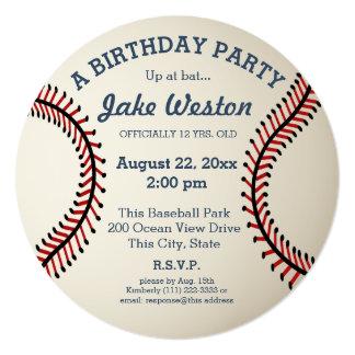 Baseball Birthday Party 13 Cm X 13 Cm Square Invitation Card