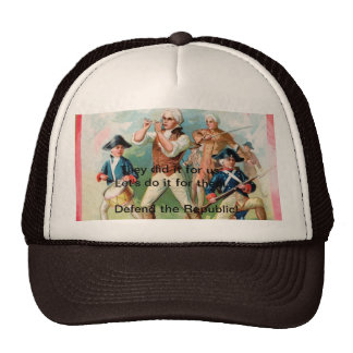 "Baseball Cap w/ ""Spirit of 76""- They did it for us"