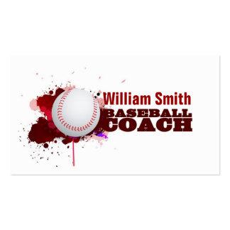 Baseball coach pack of standard business cards