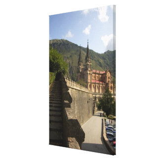 Basilica de Covadonga, northwestern Spain. Canvas Prints