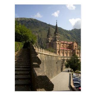 Basilica de Covadonga, northwestern Spain. Postcard