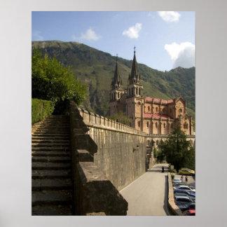 Basilica de Covadonga, northwestern Spain. Poster