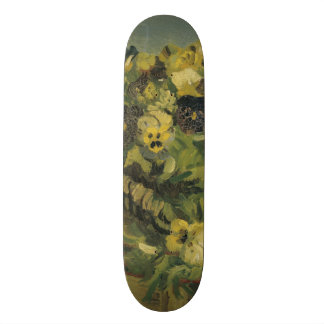 Basket of Pansies on a Small Table by Van Gogh 20.6 Cm Skateboard Deck