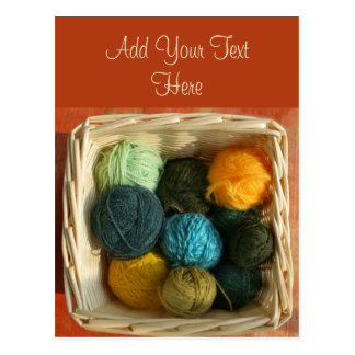 Basket of Yarn Postcard