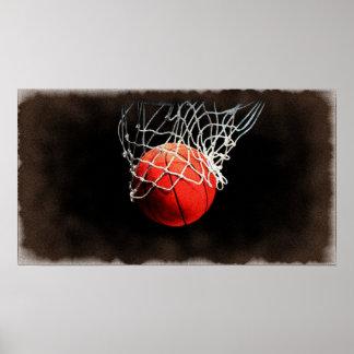 Basketball Art Poster
