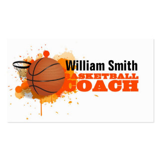 Basketball Coach Pack Of Standard Business Cards