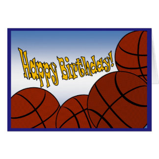 Basketball - Happy Birthday from Biggest Fan! Greeting Card