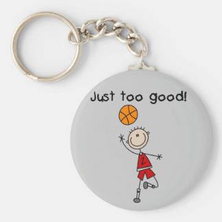 Basketball Just Too Good Tshirts and Gifts Basic Round Button Key Ring
