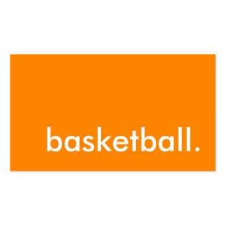 basketball. pack of standard business cards