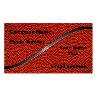 Basketball Pack Of Standard Business Cards