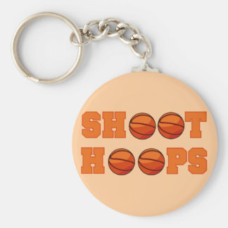 Basketball Shoot Hoops T-shirts and Gifts Basic Round Button Key Ring