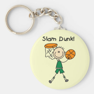 Basketball Slam Dunk T-shirts and Gifts Basic Round Button Key Ring