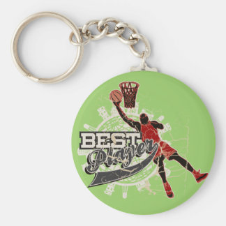 Basketball Tshirts and Gifts Basic Round Button Key Ring